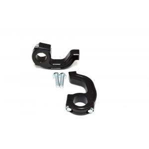 "1-1/8"" Tapered EVO2 Debris Deflector Clamp set Black Renthal FatBar/Neken/Pro Taper  50-214B"