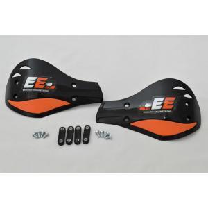 Black/Orange Plastic outer mount Roost Deflectors 51-127