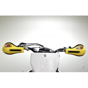 Composite Moto Roost Deflectors Yellow with Mounting Kit 53-228
