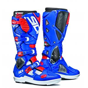 Sidi White/ Blue/ Flo Red Crossfire 3SR Boot Size 10/44 SID-C3S-WBFR-44