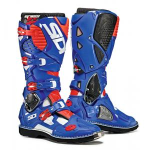 Sidi White/ Blue/ Flo Red Crossfire 3TA Boot Size 10/44 SID-C3T-WBFR-44